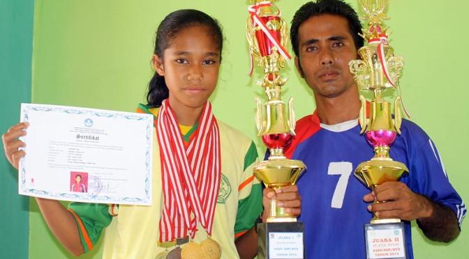 Marselina Tamu Apu, Siswa Berbakat Dibidang Olahraga